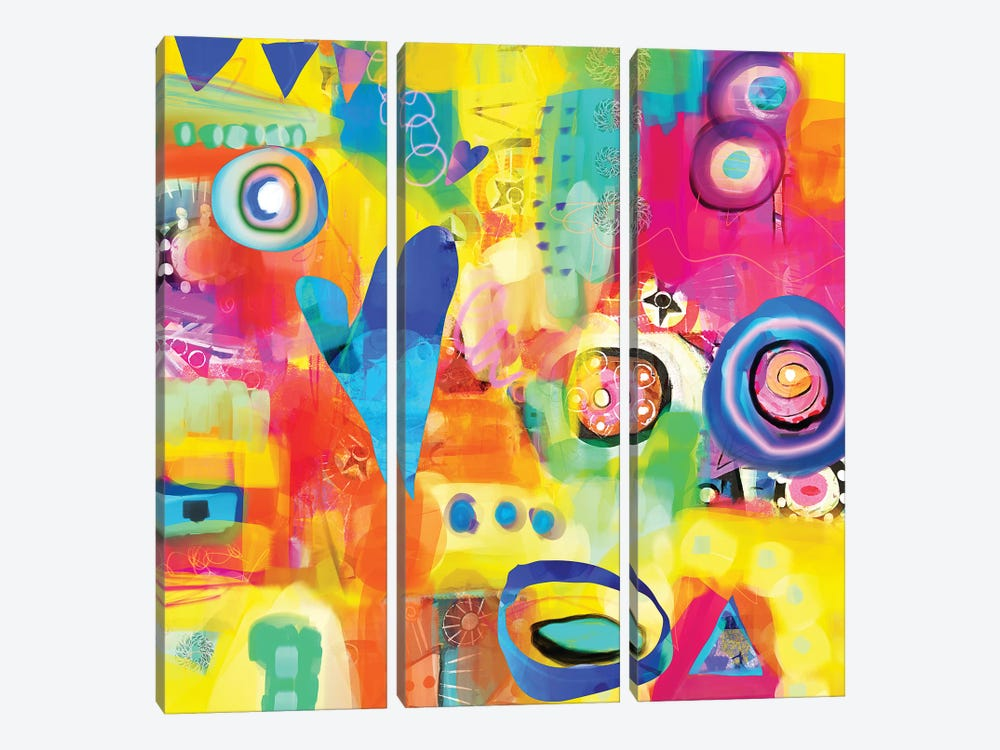 Dance Party by Christine Auda 3-piece Canvas Artwork