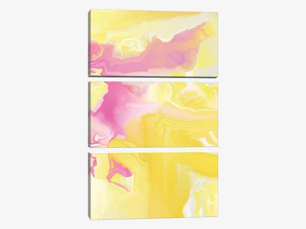 Yellow My World VI by Christine Auda 3-piece Canvas Artwork