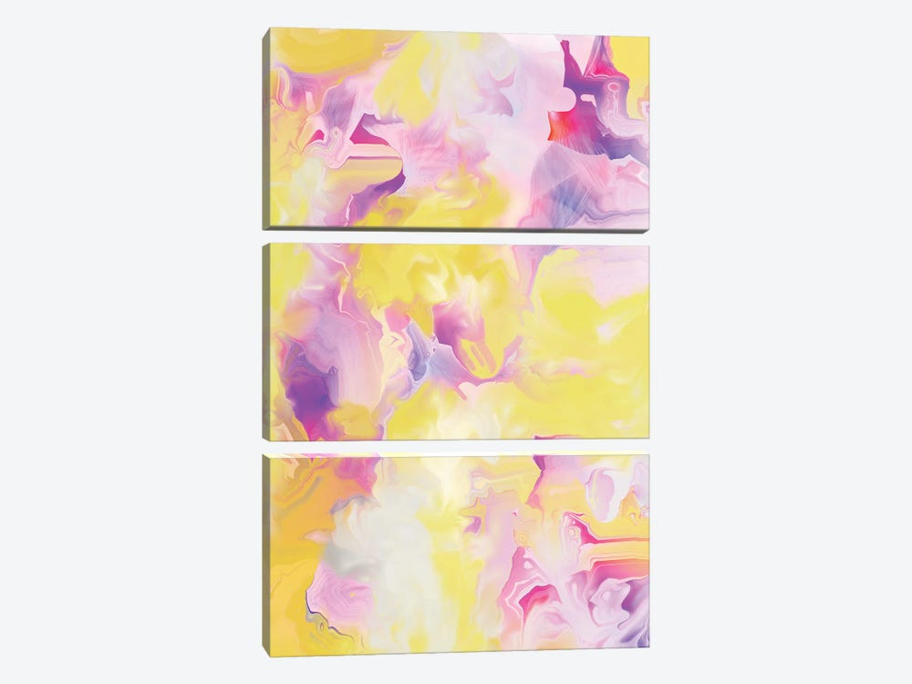 Yellow My World VII by Christine Auda 3-piece Art Print