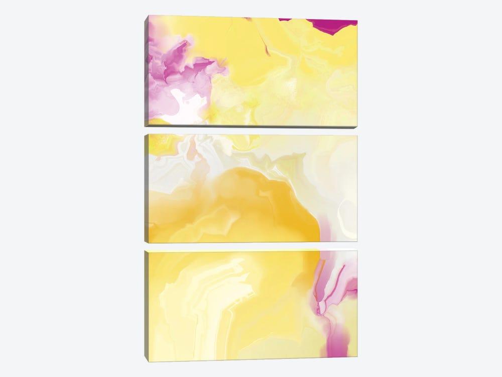Yellow My World VIII by Christine Auda 3-piece Canvas Artwork