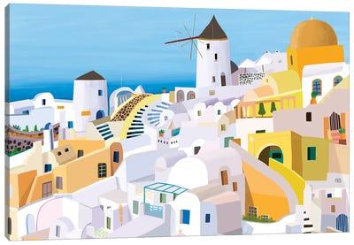 Greek Buildings I Canvas Art Print