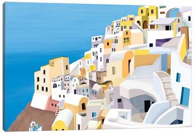 Greek Buildings II Canvas Art Print