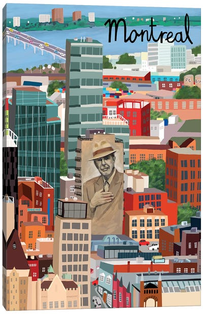 View from Above Montreal Canvas Art Print