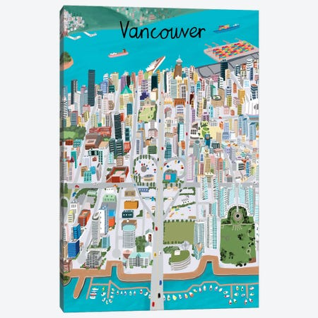 View from Above Vancouver Canvas Print #CAY25} by Carla Daly Canvas Wall Art