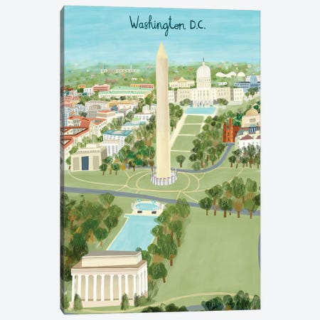 View from Above Washington DC Canvas Print #CAY26} by Carla Daly Canvas Art