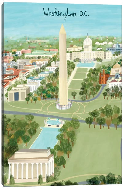 View from Above Washington DC Canvas Art Print