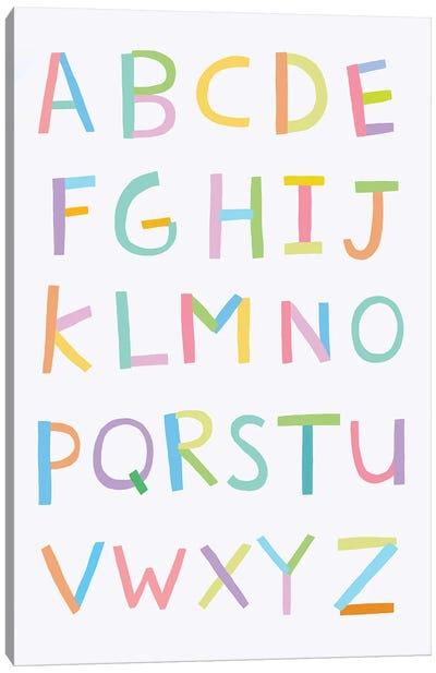 Alphabet Canvas Art Print