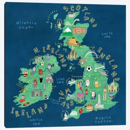 UK & Ireland Canvas Print #CAY57} by Carla Daly Canvas Print