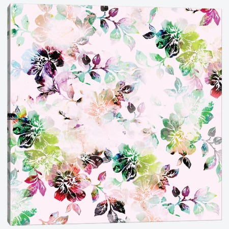 Romantic Flowers Canvas Print #CBA10} by Cayena Blanca Canvas Art