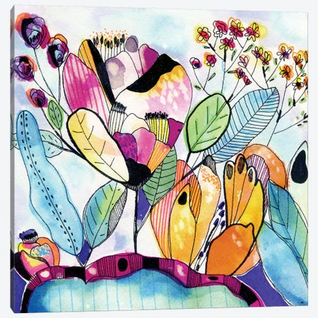 Surreal Garden Canvas Print #CBA14} by Cayena Blanca Art Print