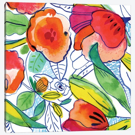 Tropicalia Canvas Print #CBA16} by Cayena Blanca Canvas Art Print