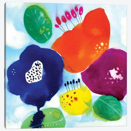 Water Flowers Canvas Print #CBA17} by Cayena Blanca Canvas Art Print