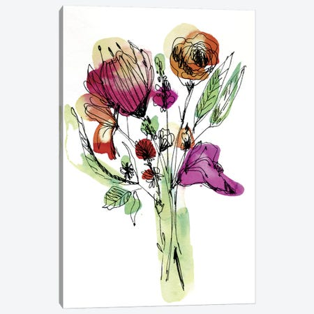 Wild Flower Bouquet Canvas Print #CBA18} by Cayena Blanca Canvas Art