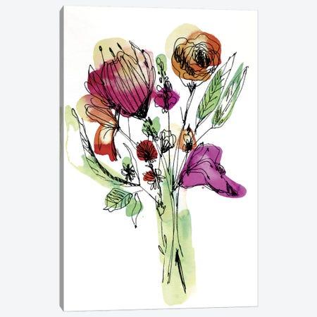 Wild Flower Bouquet Canvas Print #CBA18} by Cayena Blanca Canvas Art