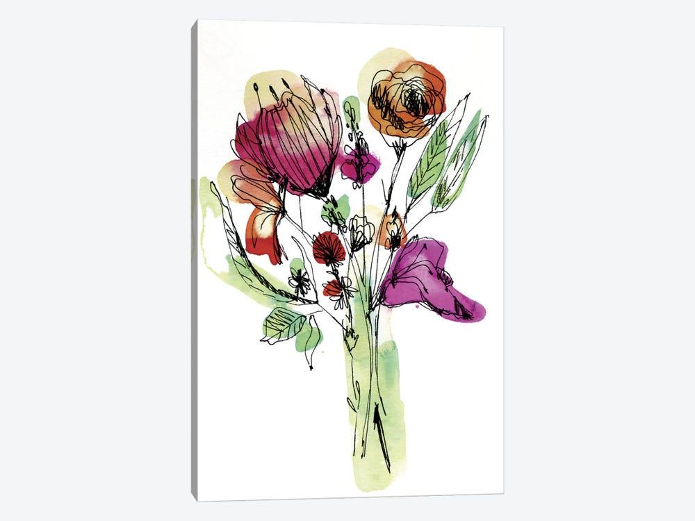 Wild Flower Bouquet by Cayena Blanca 1-piece Canvas Print