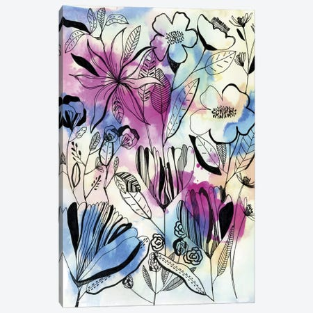 Wild Flowers I Canvas Print #CBA19} by Cayena Blanca Canvas Artwork