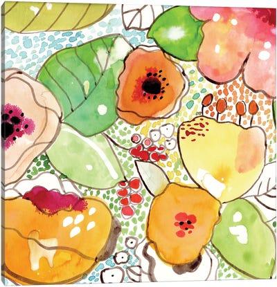 Mosaic Flowers Canvas Art Print