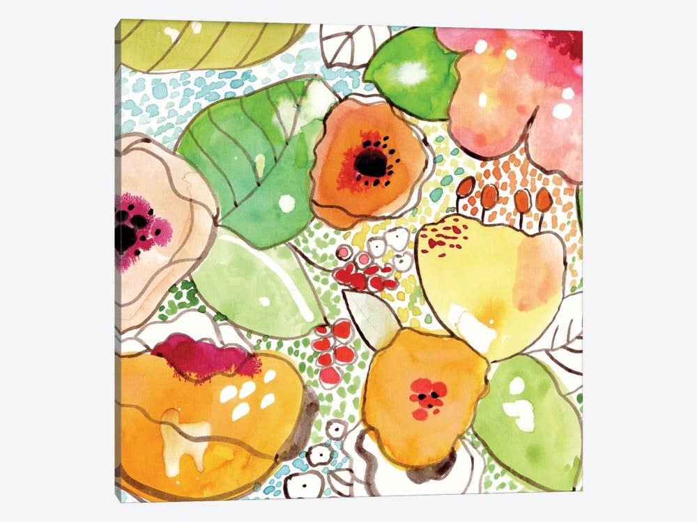 Mosaic Flowers by Cayena Blanca 1-piece Canvas Artwork