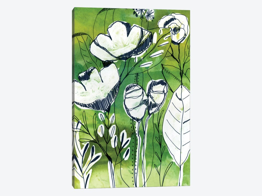 Abstract Garden by Cayena Blanca 1-piece Canvas Art Print