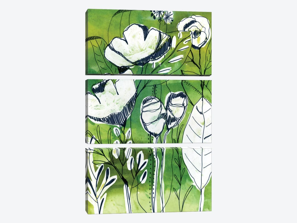 Abstract Garden by Cayena Blanca 3-piece Art Print