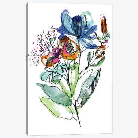 Flower Bouquet Canvas Print #CBA28} by Cayena Blanca Canvas Print
