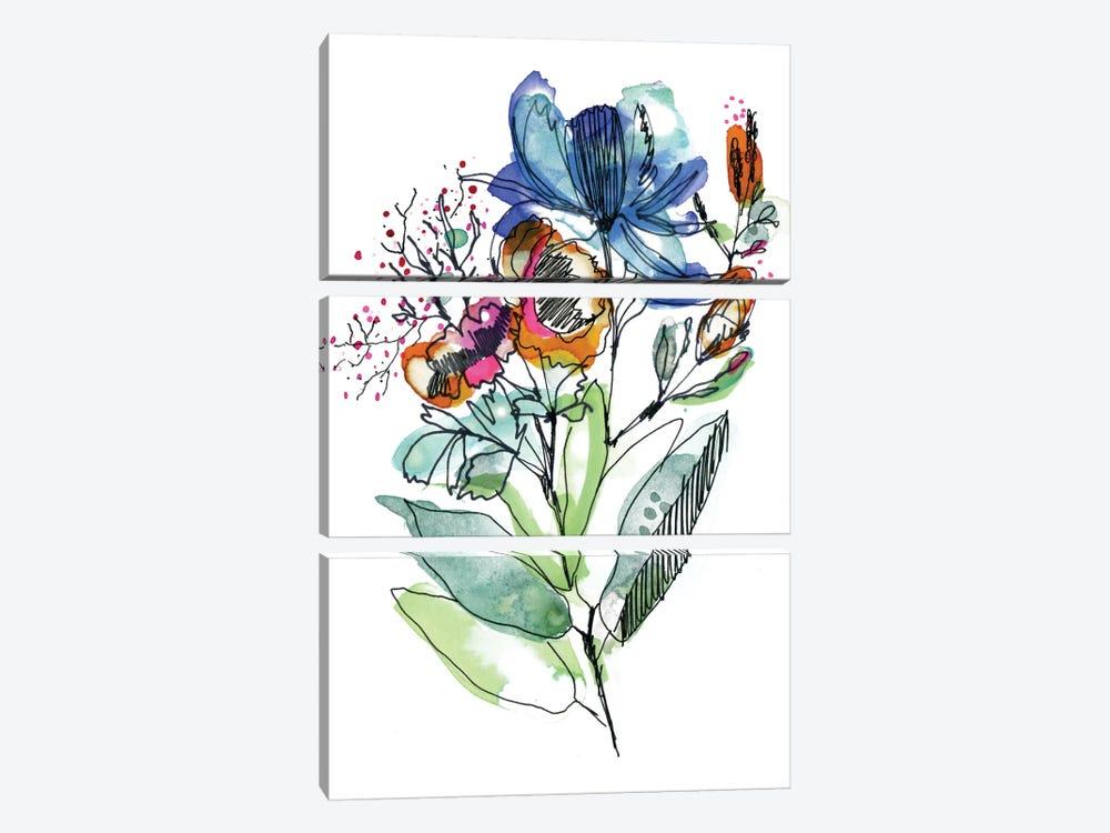 Flower Bouquet by Cayena Blanca 3-piece Canvas Art