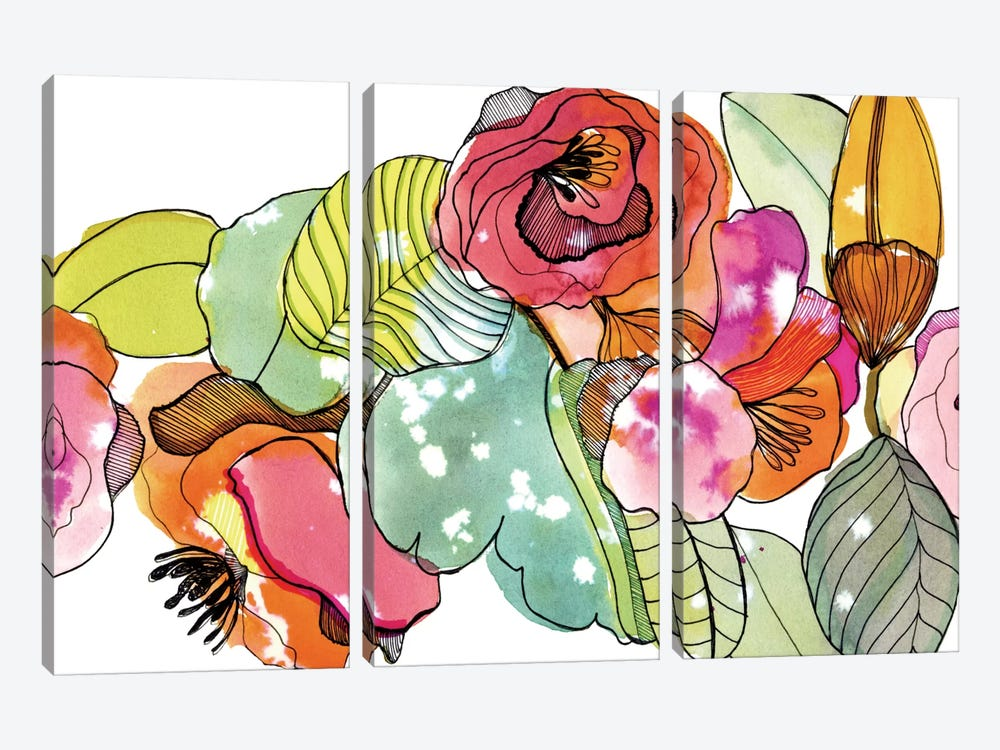 Flower Crown by Cayena Blanca 3-piece Canvas Art Print