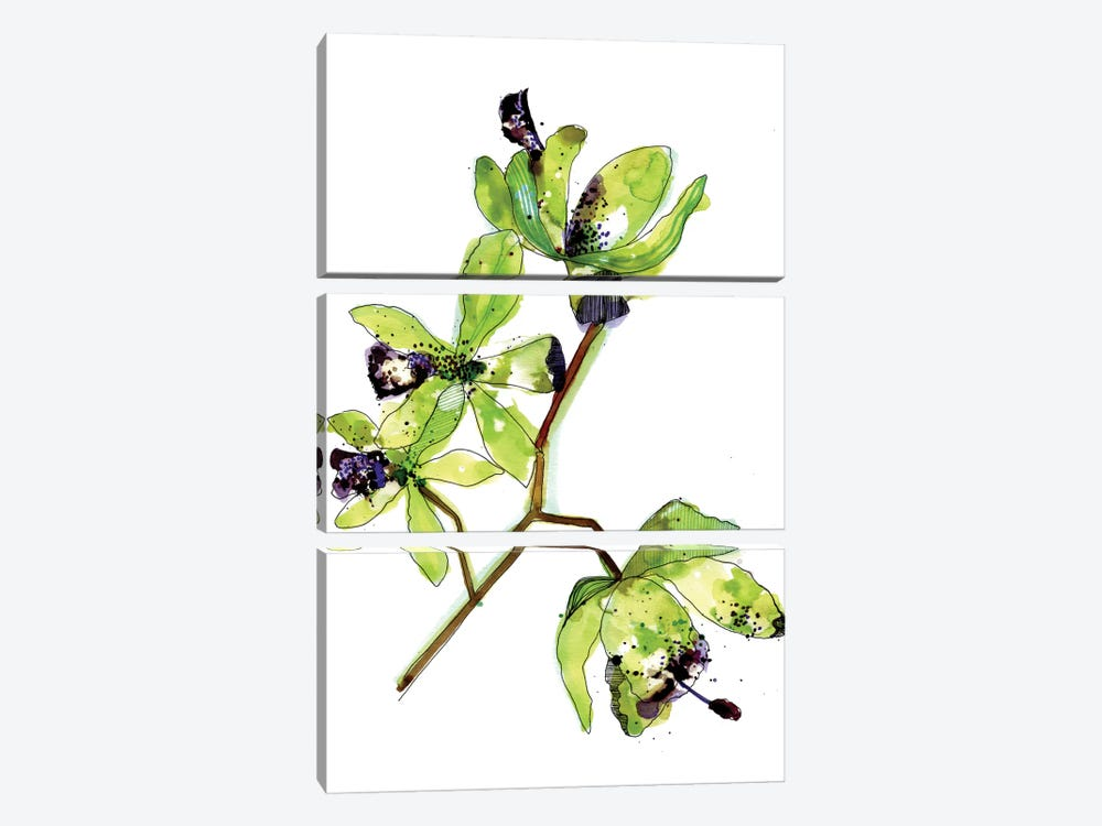 Neon Orchids by Cayena Blanca 3-piece Art Print