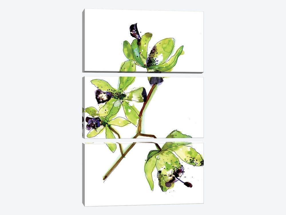 Neon Orchids by Cayena Blanca 3-piece Art Print