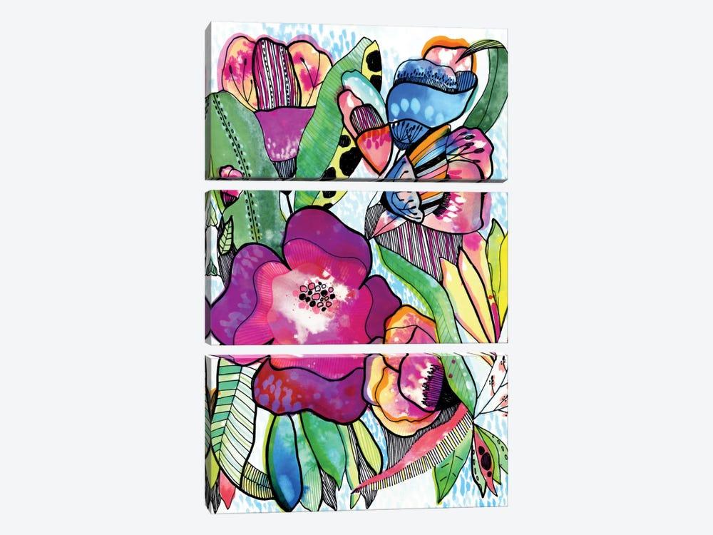 Flower Dream by Cayena Blanca 3-piece Canvas Art Print