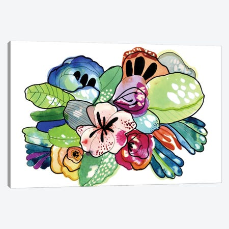 Flower Island Canvas Print #CBA31} by Cayena Blanca Canvas Artwork