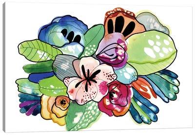 Flower Island Canvas Art Print