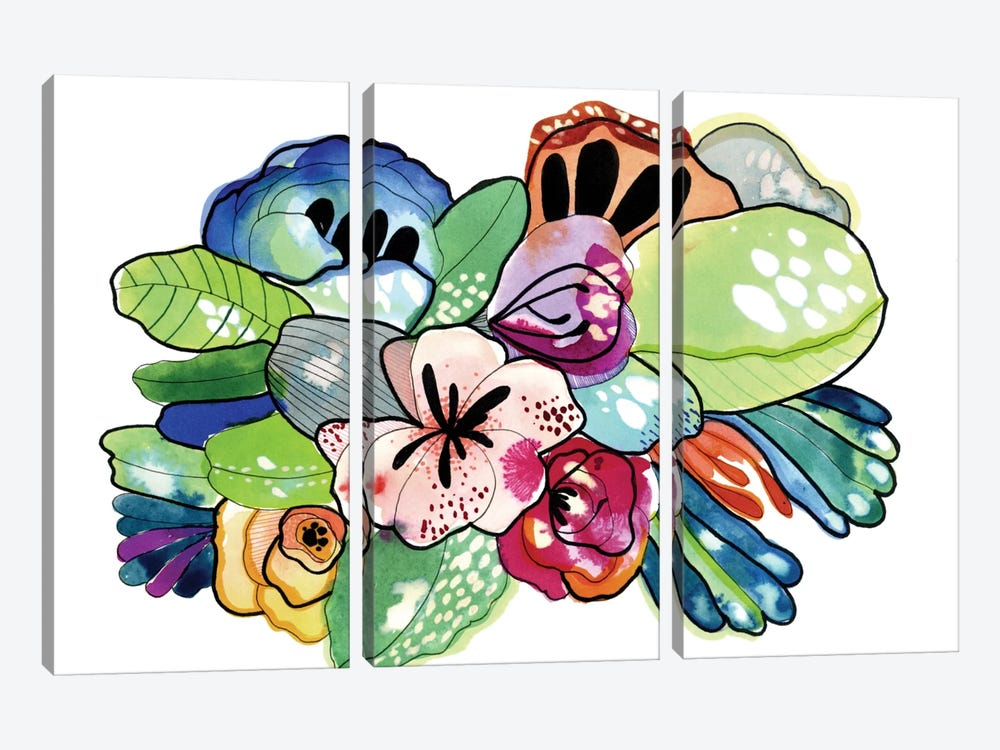 Flower Island by Cayena Blanca 3-piece Canvas Art