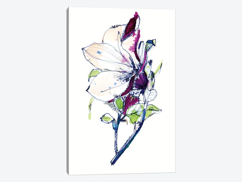 Flower Sketch by Cayena Blanca 1-piece Canvas Art Print