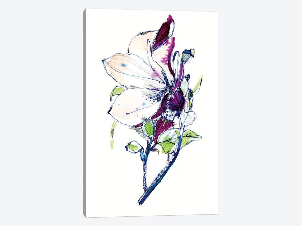 Flower Sketch by Cayena Blanca 1-piece Canvas Art Print