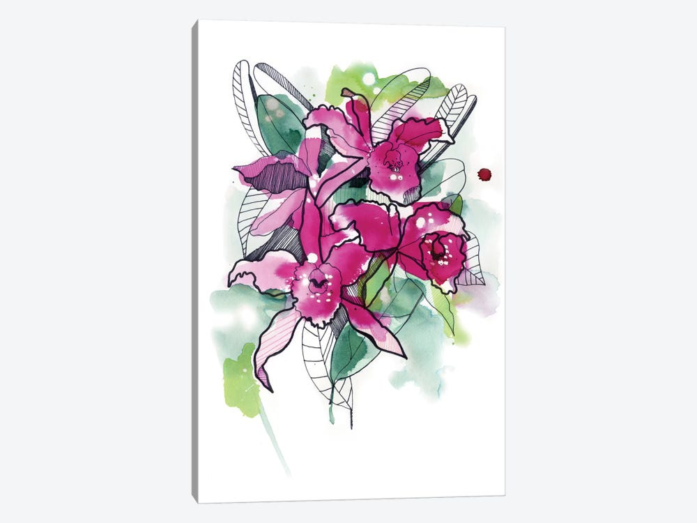Magenta Orchids by Cayena Blanca 1-piece Canvas Art Print