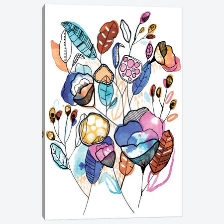 Bouquet Canvas Print #CBA36} by Cayena Blanca Canvas Art Print