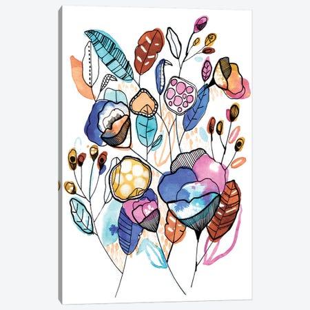 Bouquet 3-Piece Canvas #CBA36} by Cayena Blanca Canvas Art Print
