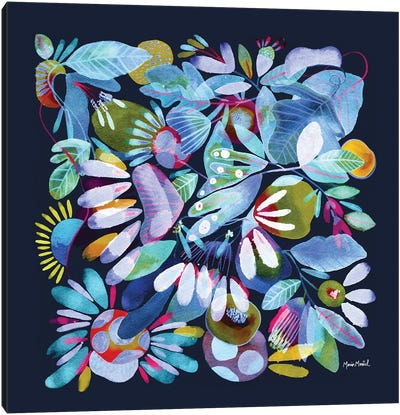 Floral Canvas I Canvas Art Print