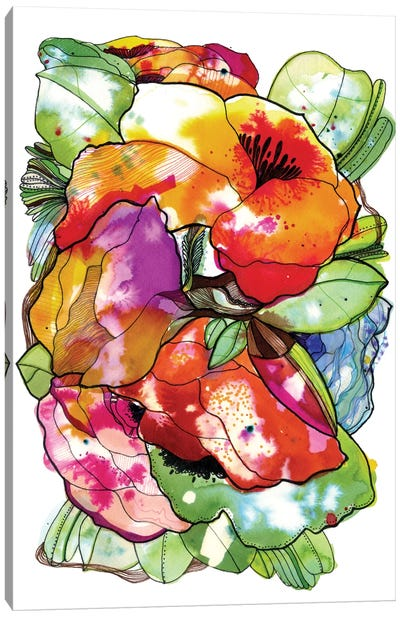Organic Flowers Canvas Art Print