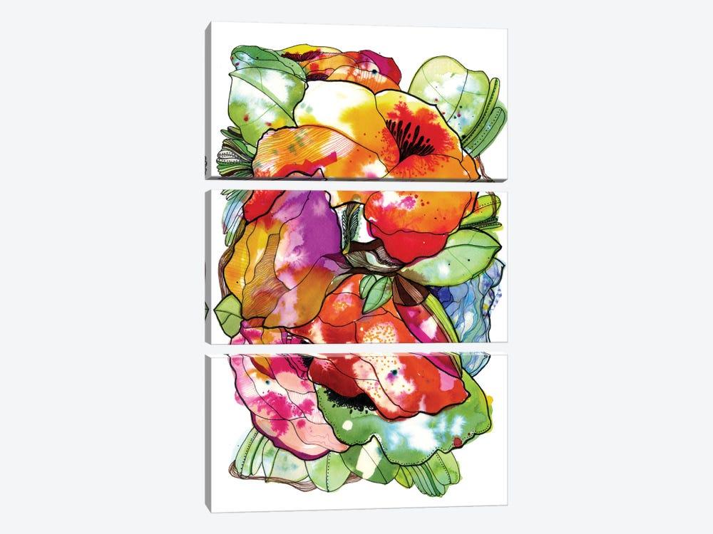 Organic Flowers by Cayena Blanca 3-piece Canvas Wall Art