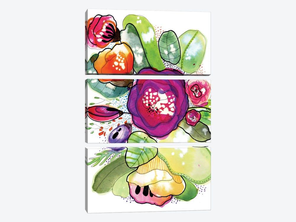 Organic Poetry by Cayena Blanca 3-piece Canvas Art Print