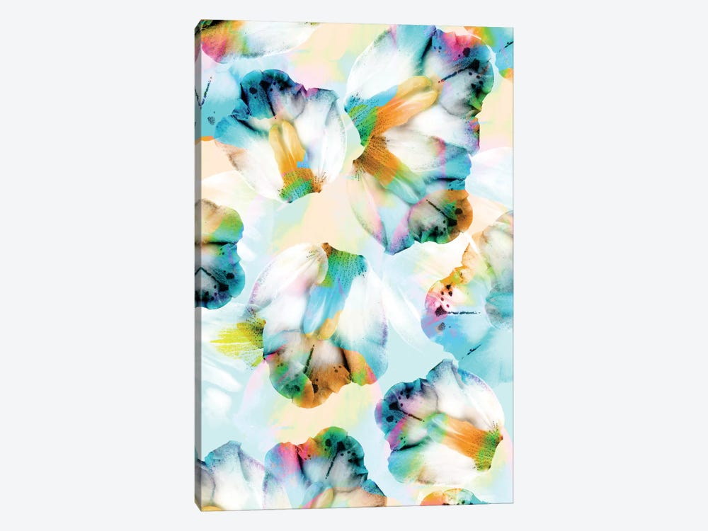 Psycho Orchids Cyan by Cayena Blanca 1-piece Canvas Art Print