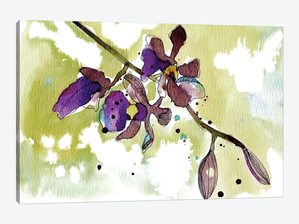 Purple Orchids by Cayena Blanca 1-piece Canvas Artwork