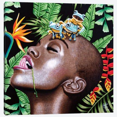 Chlorophyll Canvas Print #CBE1} by Christian Beijer Canvas Wall Art