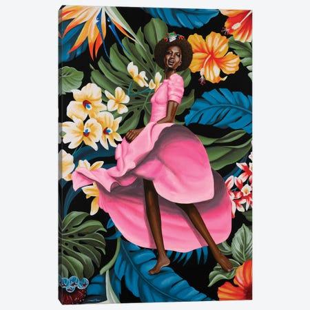 Jungle Rose Canvas Print #CBE3} by Christian Beijer Canvas Artwork