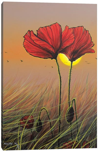 Red Flowers Canvas Art Print