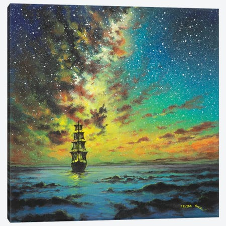 Smooth Sailing Canvas Print #CBF13} by ColorByFeliks Art Print