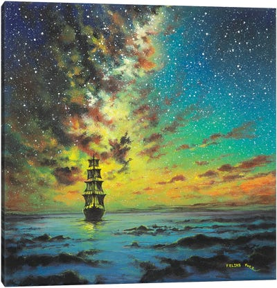 Smooth Sailing Canvas Art Print