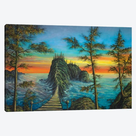 The Mysterious Island Canvas Print #CBF15} by ColorByFeliks Canvas Wall Art
